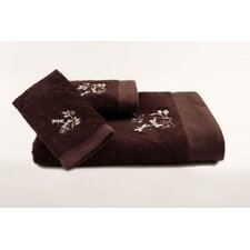 Dragonfly Embroidered 3 Piece Towel Set