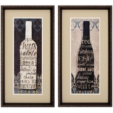 Wine Collect I / II Wall Art (Set of 2)