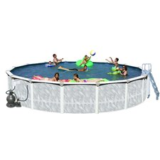 "Tango Round 52"" Above Ground Complete Deluxe Pool Package"