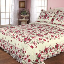 Rose Garden 3 Piece Quilt Set