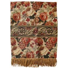 Vintage Floral Tapestray Cotton Throw