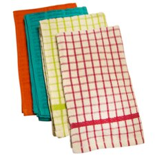 Assorted Solid / Check Terry Kitchen Towel (Set of 6)
