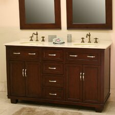 "Bolton 60"" Double Bathroom Vanity Set"