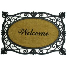 Welcome Printed Oval Doormat