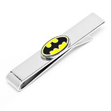 DC Enamel Oval Batman Logo Tie Bar