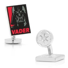 Star Wars Silver Plated Darth Vader Pop Art Cufflinks