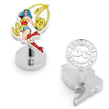 DC Comics Silver Plated Wonder Woman Cufflinks