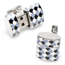 Scales Oval USB Cufflinks