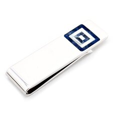 Sodalite and MOP Maze Money Clip