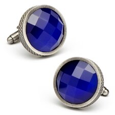 Faceted Cats Eye Cufflinks