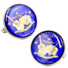 Hand Painted Tennessee State Quarter Cufflinks