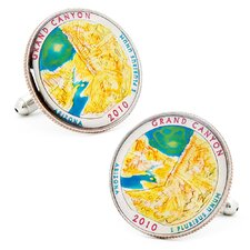 Hand Painted Grand Canyon National Park Quarter Cufflinks