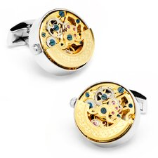 Stainless Steel Kinetic Watch Movement Cufflinks