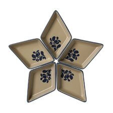 Folk Segmented Star Serving Dish (Set of 5)