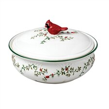 Winterberry 64 oz. Covered Bowl