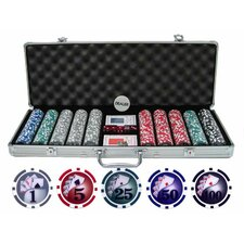 500 Piece Yin Yang Clay Poker Chip Set