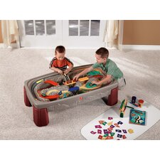 Deluxe Canyon Train & Track Table with Lid