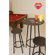 Zella Bar Table and Stool Set  in Espresso