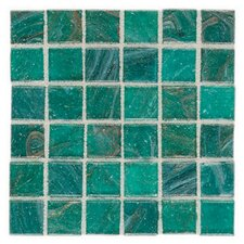 "Elemental Glass 12"" x 12"" Mosaic Tile in Blue Lagoon"