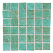"Elemental Glass 12"" x 12"" Mosaic Tile in Mint Julep"