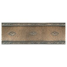 "Metal Signatures Diamond Weave 12"" x 4"" Floor Border in Aged Bronze"