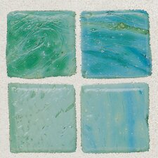 "Sonterra Collection 12"" x 12"" Opalized Mosaic Tile in Verde"