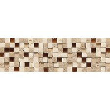 "Fidenza 9"" x 2"" Stone and Glass Accent Decorative Border"