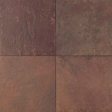 "Continental Slate 18"" x 18"" Field Tile in Indian Red"
