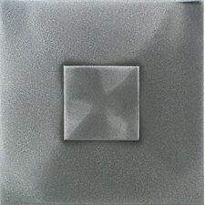 "Urban Metals 2"" x 2"" Geo Decorative Dot in Stainless"