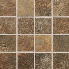 "Franciscan Slate 11"" x 11"" Unpolished Mosaic Tile in Terrain Marrone"