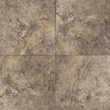 "Travata 13"" x 13"" Plain Glazed Porcelain Tile in Chocolate Mousse"