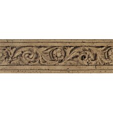 "Fashion Accents 13"" x 4"" Romanesque Decorative Listello in Flora Noce"