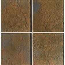 "Molten Glass 2"" x 2"" Multi-Colored Wall Tile in Grand Canyon"