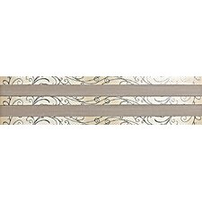 "Spark 24"" x 6"" Decorative Accent Tile in Firelight Flicker / Toasted Luster"