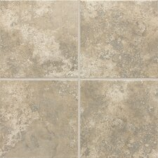 "Stratford Place 12"" x 12"" Unpolished Ceramic Floor Tile in Dorian Grey"