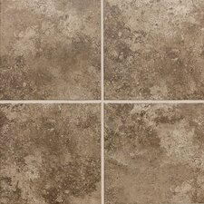 "Stratford Place 18"" x 18"" Unpolished Ceramic Floor Tile in Truffle Field"