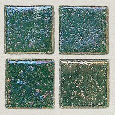 "Sonterra Collection 12"" x 12"" Iridescent Mosaic Tile in Emerald"