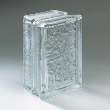 "Glass Block 8"" x 4"" Icescapes Block"