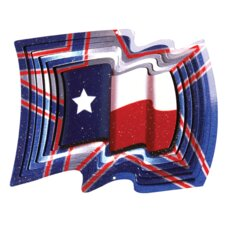 Designer Texas Flag Wind Spinner