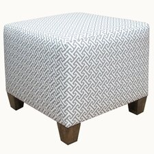 Cross Section Fabric Cube Ottoman