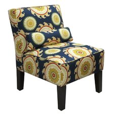 Upholstered Fabric Slipper Chair