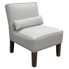 Cross Section Fabric Slipper Chair