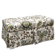 Silsila Skirted Fabric Storage Bench