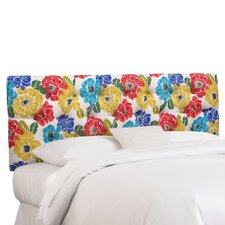 Tufted Fabric Upholstered Headboard