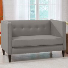 5 Button Chaise Loveseat