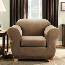 Stretch Stripe Two Piece Chair Slipcover