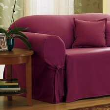 Cotton Duck Loveseat Skirted Slipcover