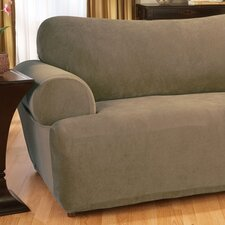Stretch Pique Loveseat T-Cushion Slipcover