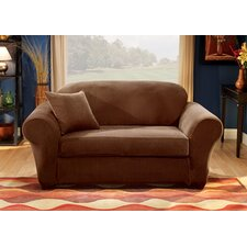 Stretch Pique Separate Seat Sofa Slipcover