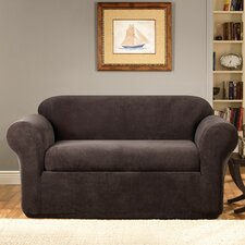 Stretch Metro 2-Piece Loveseat Slipcover